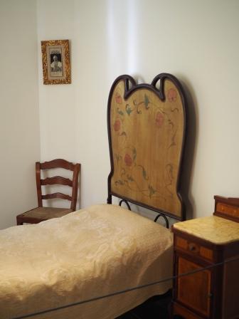Gaudin makuuhuone.