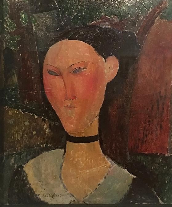Nainen ja samettinen kaulanauha, 1915.